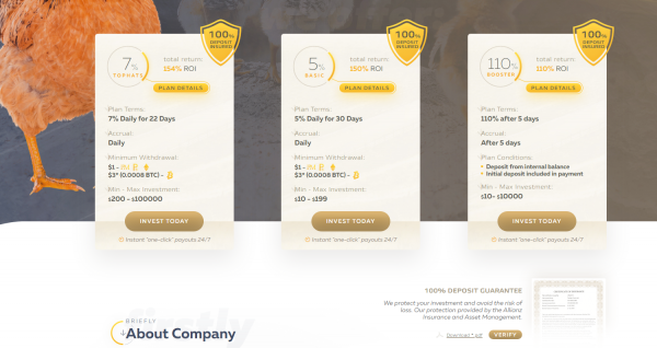 Goldcoders Hyip Template Free Hyip Manager Pro DEMO #3