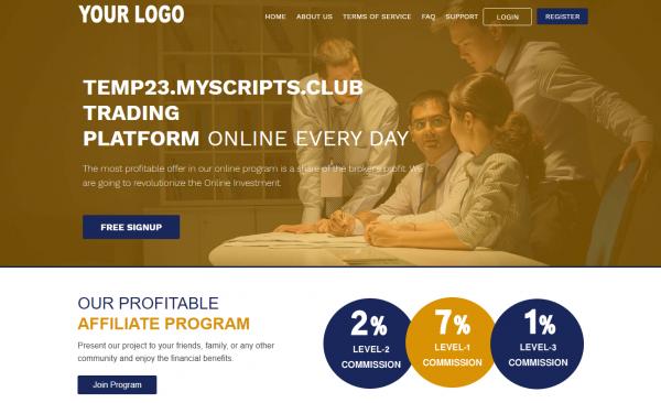 HYIP PHP Script GoldCoders DEMO #23