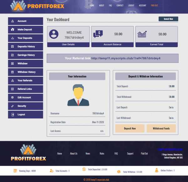 Best GoldCoders HYIP Templates DEMO #11