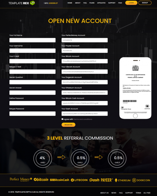 Goldcoders Hyip Template Free Hyip Manager Pro DEMO #41